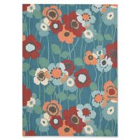 Nourison Pic-A-Poppy 5'3 x 7'5 Indoor/Outdoor Area Rug in Blue