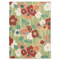 Nourison Pic-A-Poppy 10' x 13' Indoor/Outdoor Area Rug in Aqua
