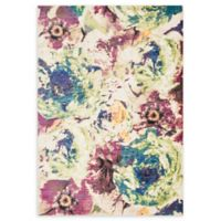 Loloi Rugs Madeline Floral 3'9 x 5'2 Area Rug in Magenta