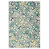 Loloi Rugs Madeline Space-Dyed 3'9 x 5'2 Area Rug in Teal