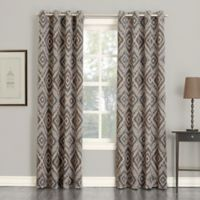 Sun Zero Josephine 84-Inch Room Darkening Grommet Top Window Curtain Panel in Stone