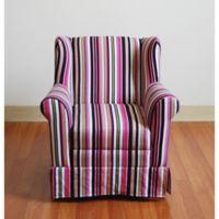 Multi-Stripe Wingback Chair