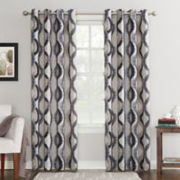 Sun Zero Courtney 84-Inch Room Darkening Grommet Top Window Curtain Panel in Grey