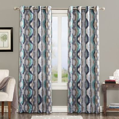 Sun Zero Courtney 84 Inch Room Darkening Grommet Top Window Curtain Panel In Linen