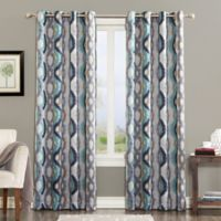 Sun Zero Courtney 84-Inch Room Darkening Grommet Top Window Curtain Panel in Linen