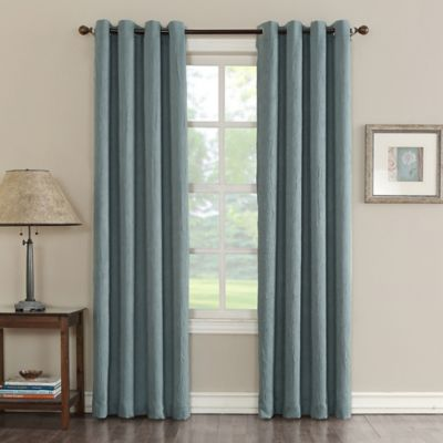 Sun Zero Hoffman 63 Inch Grommet Room Darkening Window Curtain Panel In Mineral