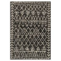 Loloi Rugs Emory 9'2 x 12'7 Power-Loomed Area Rug in Black/Ivory