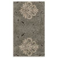 Loloi Rugs Enchant Medallion 2'3 x 3'9 Power-Loomed Accent Rug in Smoke/Beige