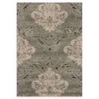 Loloi Rugs Enchant Medallion 3'10 x 5'7 Power-Loomed Accent Rug in Smoke/Beige