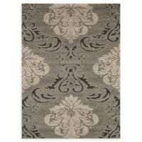 Loloi Rugs Enchant Medallion 5'3 x 7'7 Power-Loomed Accent Rug in Smoke/Beige