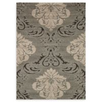 Loloi Rugs Enchant Medallion 7'7 x 10'6 Power-Loomed Accent Rug in Smoke/Beige
