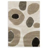 Loloi Rugs Enchant Dot 3'10 x 5'7 Power-Loomed Accent Rug in Ivory