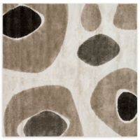 Loloi Rugs Enchant Dot 7'7 Square Power-Loomed Accent Rug in Ivory