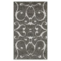 Loloi Rugs Enchant Swirled 2'3 x 3'9 Power-Loomed Accent Rug in Smoke