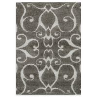 Loloi Rugs Enchant Swirled 3'10 x 5'7 Power-Loomed Accent Rug in Smoke
