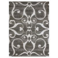Loloi Rugs Enchant Swirled 5'3 x 7'7 Power-Loomed Accent Rug in Smoke