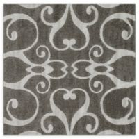 Loloi Rugs Enchant Swirled 7'7 Square Power-Loomed Accent Rug in Smoke