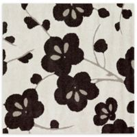 Loloi Rugs Enchant Floral 7'7 Square Power-Loomed Accent Rug in Ivory/Espresso