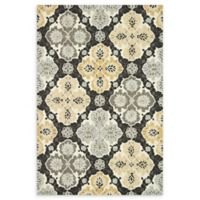 Loloi Rugs Francesca Medallion 3' Round Handcrafted Area Rug in Charcoal
