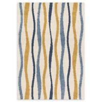 Loloi Rugs Enchant Multicolor Stripes 7'7 x 10'6 Area Rug in Ivory