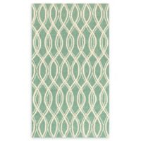 Loloi Rugs Venice Beach Waves 3'6 x 5'6 Area Rug in Turqouise/Ivory