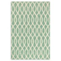 Loloi Rugs Venice Beach Waves 5' x 7'6 Area Rug in Turqouise/Ivory