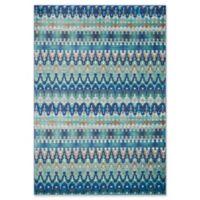 Loloi Rugs Madeline Multicolor Stripe 3'9 x 5'2 Area Rug in Blue