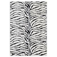 Loloi Rugs Danso Shag Zebra 2' x 3' Accent Rug in Black/White