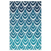 Loloi Rugs Venice Beach Waves Indoor/Outdoor 9'3 x 13' Area Rug in Blue