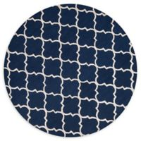 Loloi Rugs Panache 7'6 Round Area Rug in Navy/Silver