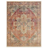 Loloi Rugs Javari 2'6 x 12'0 Runner in Berry/Sunrise