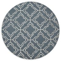 Loloi Rugs Panache 7'6 Round Handcrafted Area Rug in Slate/Taupe