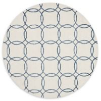 Loloi Rugs Panache 7'6 Round Handcrafted Area Rug in Ivory/Blue