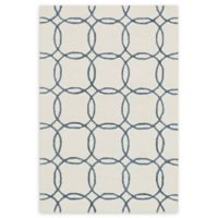 Loloi Rugs Panache Geometric Circles 9'3 x 13' Handcrafted Area Rug in Ivory/Blue
