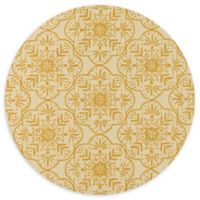 Loloi Rugs Venice Beach 7'10 Indoor/Outdoor Round Area Rug in Buttercup