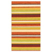 Loloi Rugs Venice Beach 2'3 x 3'9 Striped Indoor/Outdoor Area Rug in Sunset