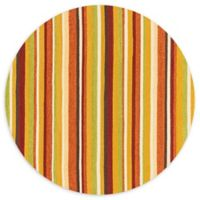Loloi Rugs Venice Beach 7'10 Striped Indoor/Outdoor Round Area Rug in Sunset