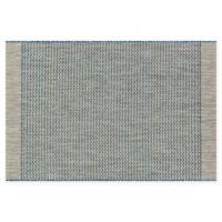 Loloi Rugs Isle Chevron 3'11 x 5'10 Indoor/Outdoor Area Rug in Grey/Blue