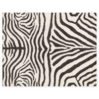 Loloi Rugs Kiara 3'6 x 5'6 Shag Area Rug in Ivory/Charcoal
