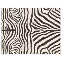 Loloi Rugs Kiara 5' x 7'6 Shag Area Rug in Ivory/Charcoal