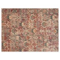 Loloi Rugs Javari 2'6 x 4' Abstract Accent Rug in Berry/Ivory