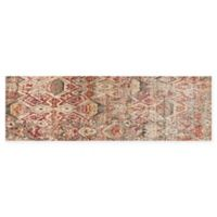 Loloi Rugs Javari 2'6 x 12' Abstract Runner in Berry/Ivory
