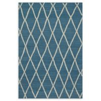 Loloi Rugs Adler Azure Lattice 9'3 x 13' Area Rug in Blue