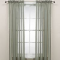 63-Inch Rod Pocket Sheer Window Curtain Panel in Sage