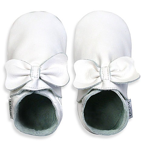 Bobux® White Bow 0 - 3 Months Shoes