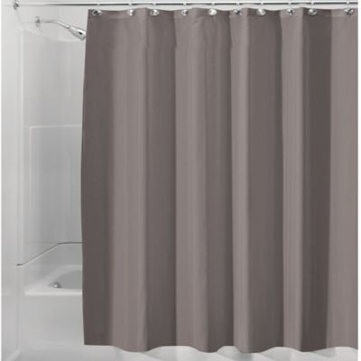 InterDesignR Waterproof Fabric Shower Curtain Liner In Taupe