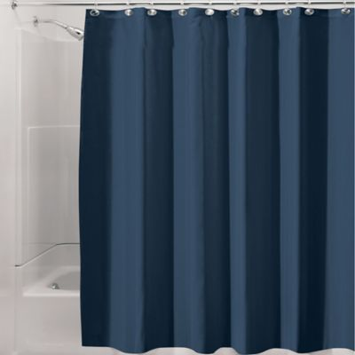 InterDesign® Waterproof Fabric Shower Curtain Liner In Navy