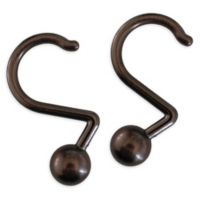 12 Piece Globe Aluminum Shower Curtain Hook In Oil Rubbed Bronze