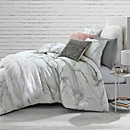 Marble Full/Queen Comforter Set in White/Black