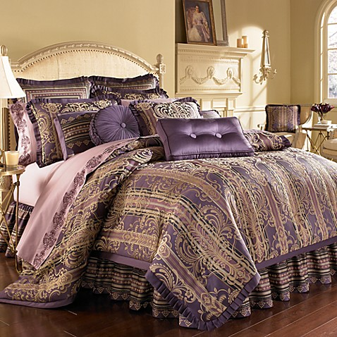 j queen palazzo purple california king comforter set - Cal King Comforter Sets